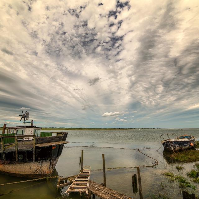"""Sky Over Landermere Quay"" stock image"