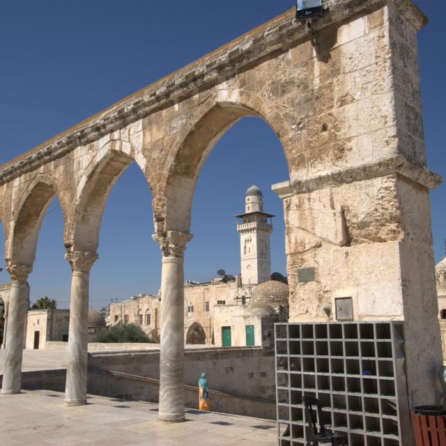 """Israel, Jerusalem, Old City, Temple Mount"" stock image"