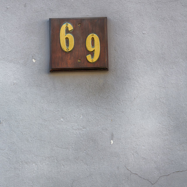"""""""number in a wall house like texture background"""" stock image"""