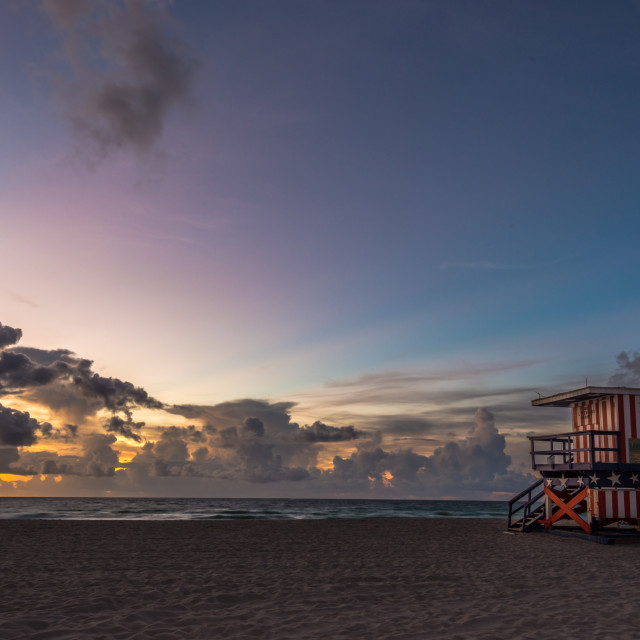 """Miami Beach sunrise"" stock image"