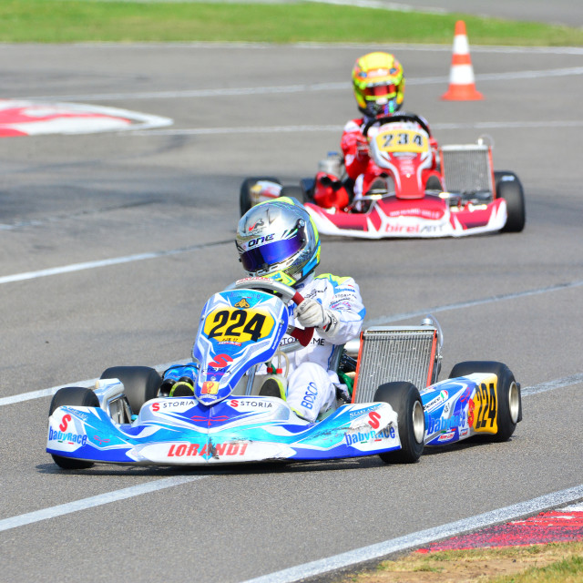 """CIK-FIA European Karting Championship."" stock image"