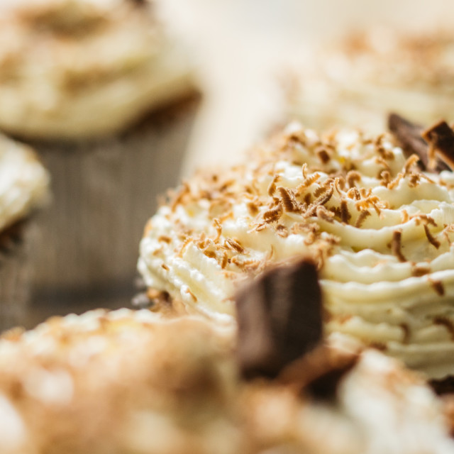 """""""Chocolate/moka cupcakes"""" stock image"""