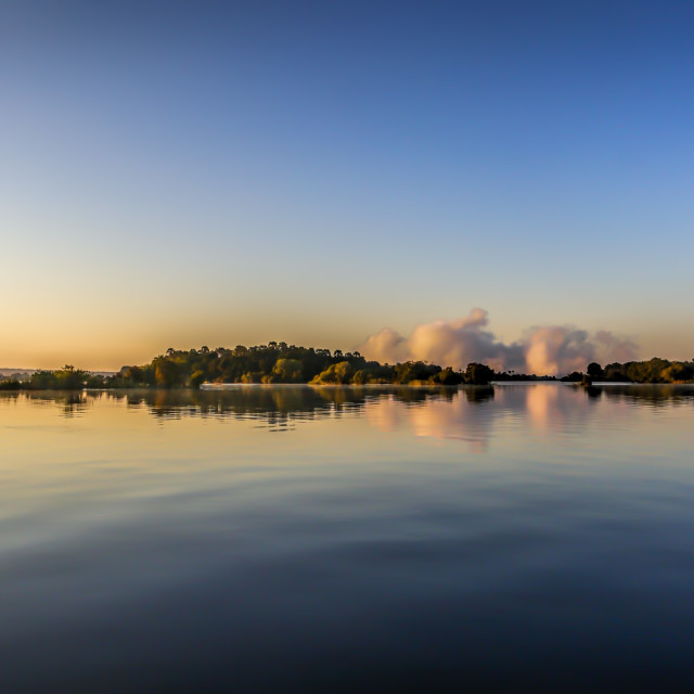 """Zambezi River Sunrise"" stock image"