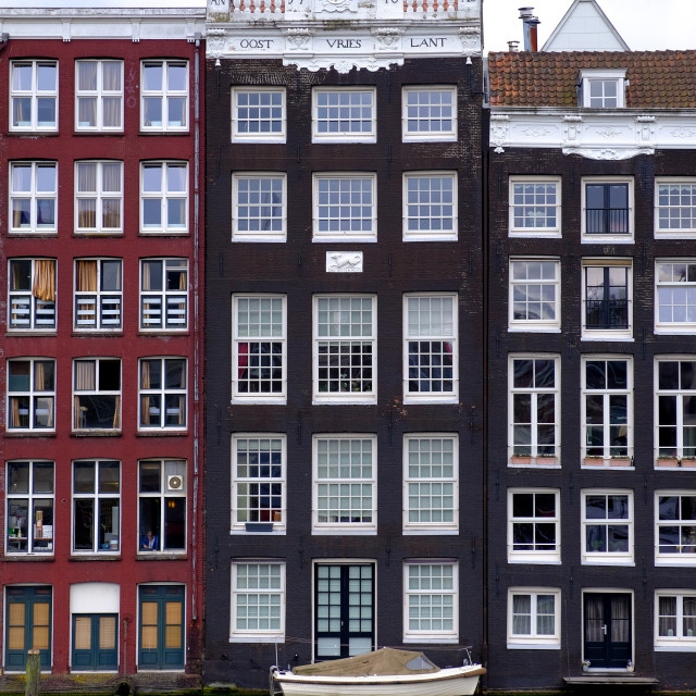 """""""canalside houses"""" stock image"""
