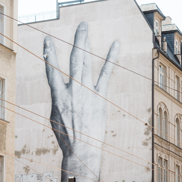 """Streetart in Berlin"" stock image"