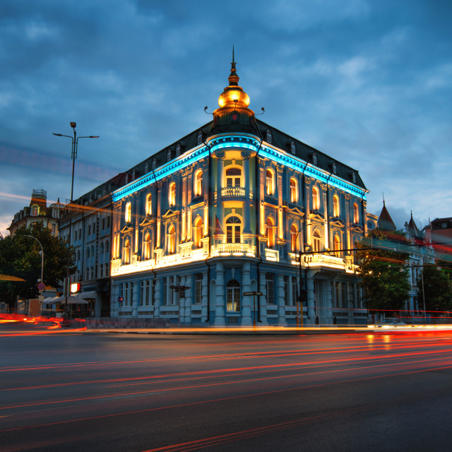 """Popular Landmark in Varna, naval hotel"" stock image"