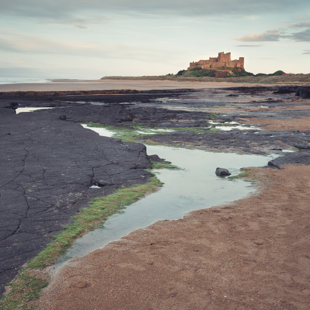 """Bamburgh Pool"" stock image"