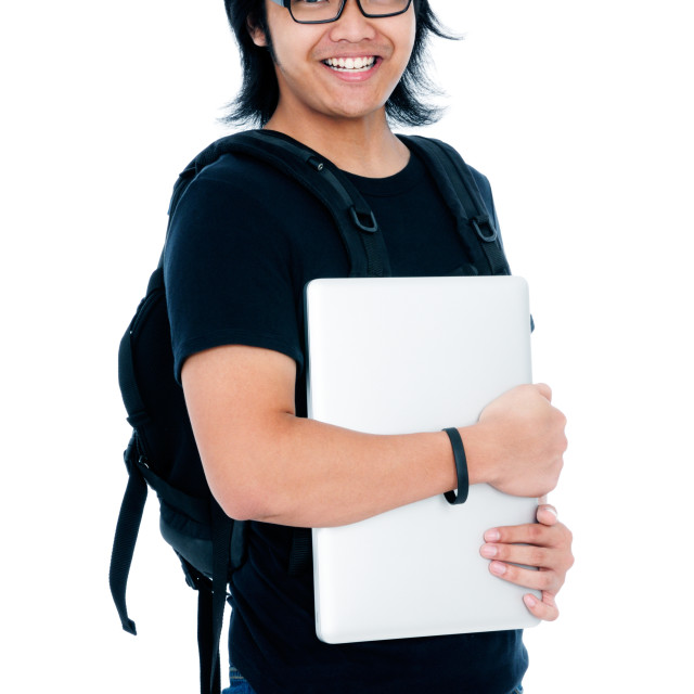 """""""Smiling Adult Male Student"""" stock image"""