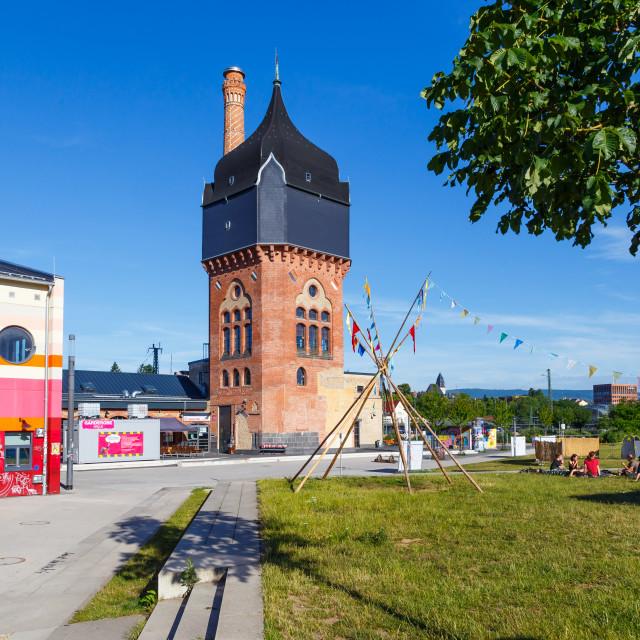"""Schlachthof Wiesbaden"" stock image"