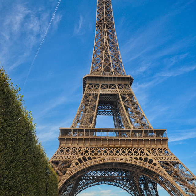 """""""The Eiffel Tower - A Summer Attraction"""" stock image"""