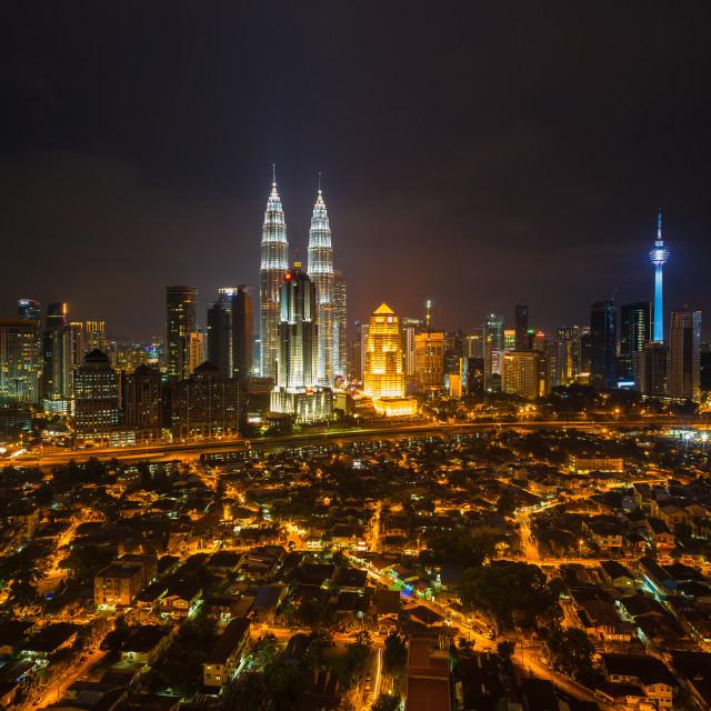 """""""Kuala Lumpur City at night"""" stock image"""