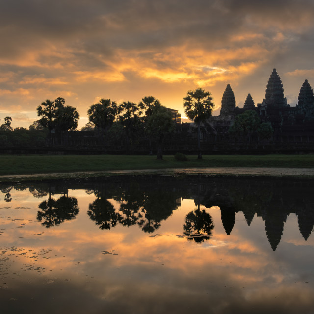 """Angkor Wat Sunrise"" stock image"