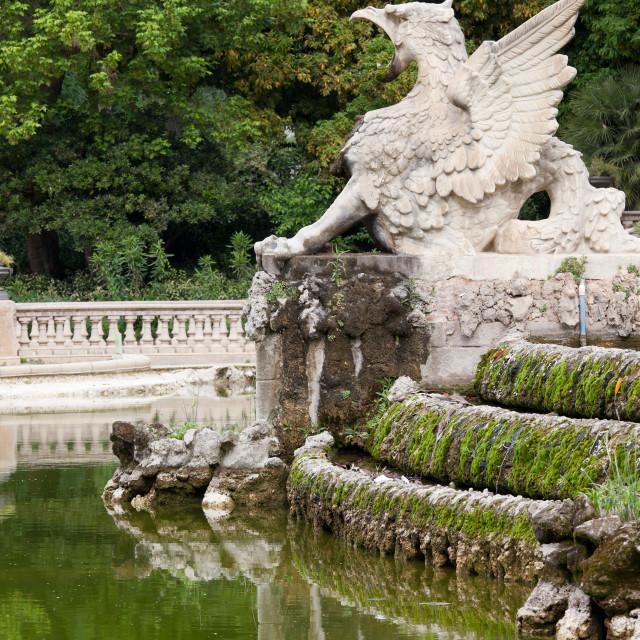 """""""Griffin at Parc de la Ciutadella in Barcelona"""" stock image"""