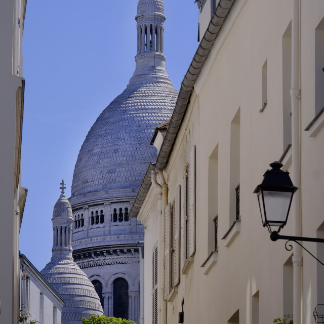 """Sacre Coeur, Monmartre"" stock image"