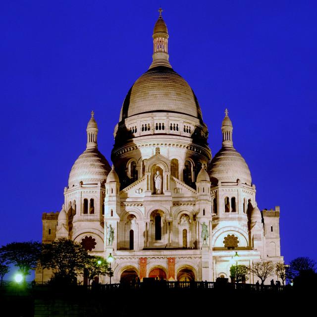 """Sacre Coeur Night"" stock image"