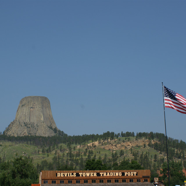 """Devils Tower, Wyoming"" stock image"