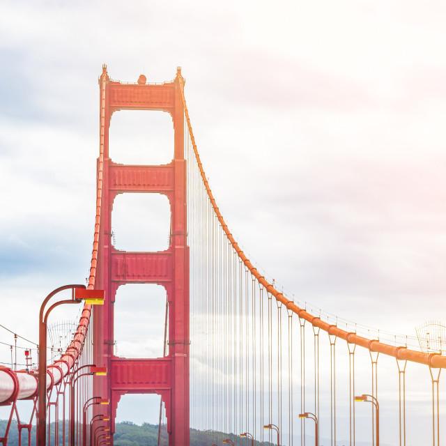 """""""golden gate bridge pillar"""" stock image"""