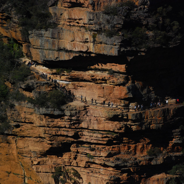 """Cliff Face Walk at Wentworth Falls"" stock image"