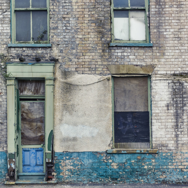 """""""House in state of decay in Hull"""" stock image"""