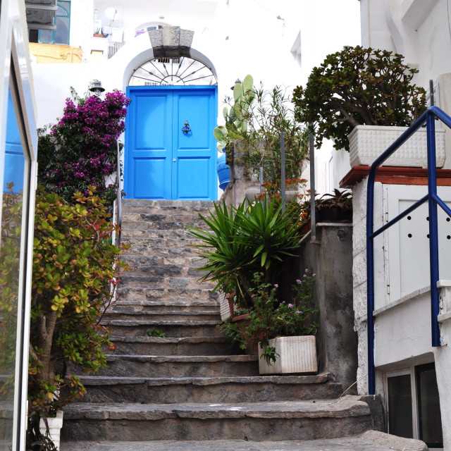 """Characteristic alley of the island of Ischia - Sant'Angelo"" stock image"