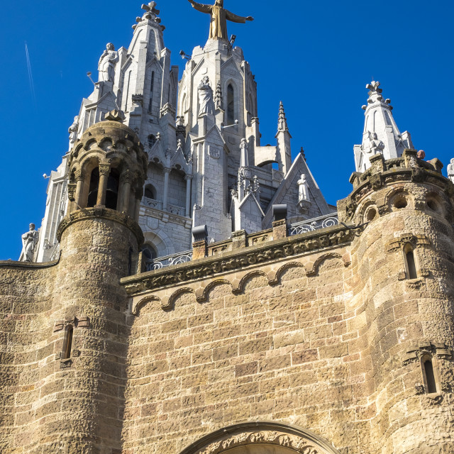 """Expiatory Church of the Sacred Heart on the Tibidabo"" stock image"