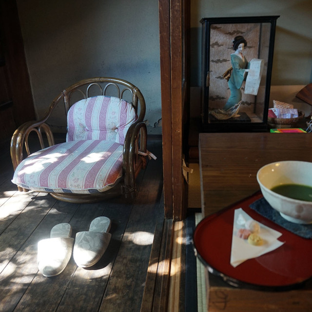 """""""tea house in kyoto"""" stock image"""