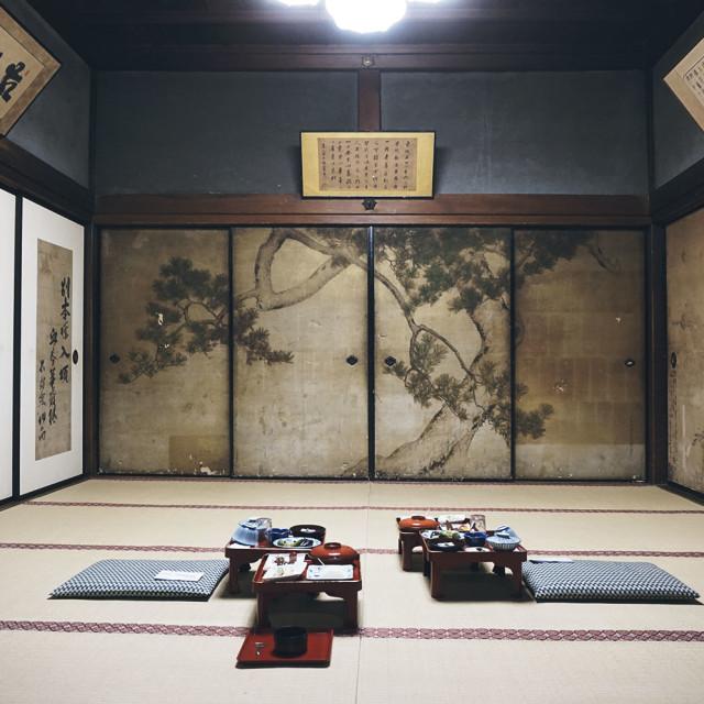 """temple lodging in KOYA, Japan"" stock image"