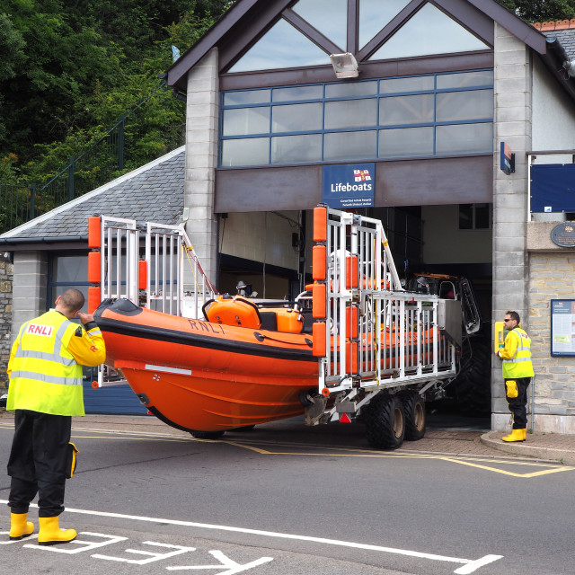 """Penarth Lifeboat"" stock image"