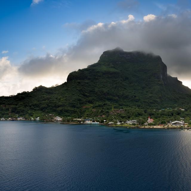 """""""Bora Bora Island Panorama"""" stock image"""