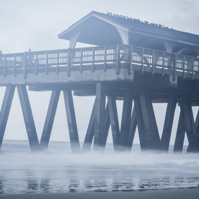 """Morning on a pier"" stock image"