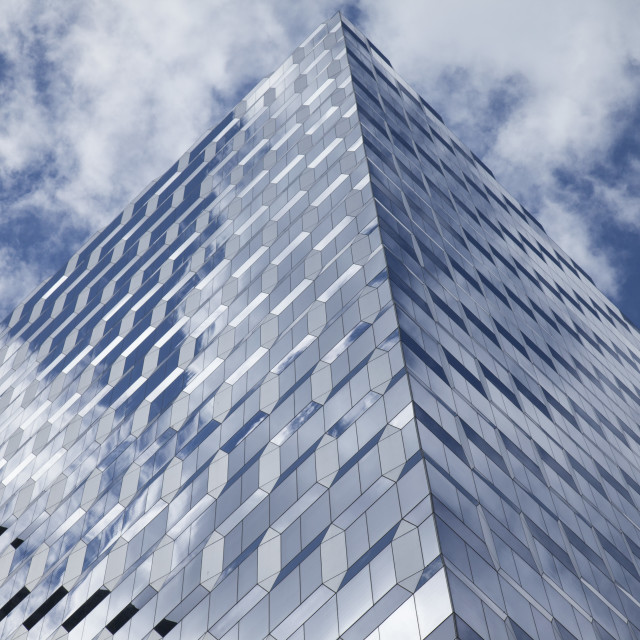 """Glass building and reflect the clouds"" stock image"