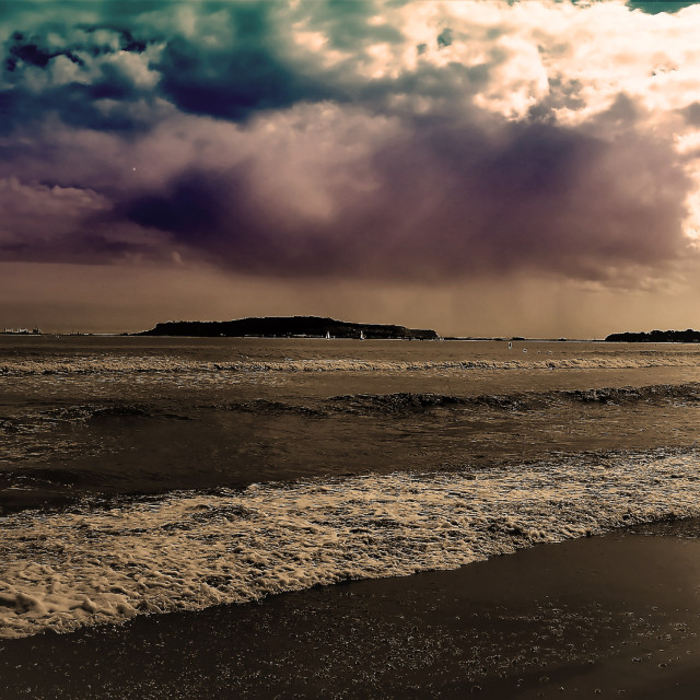 """Stormy Day in Weymouth"" stock image"