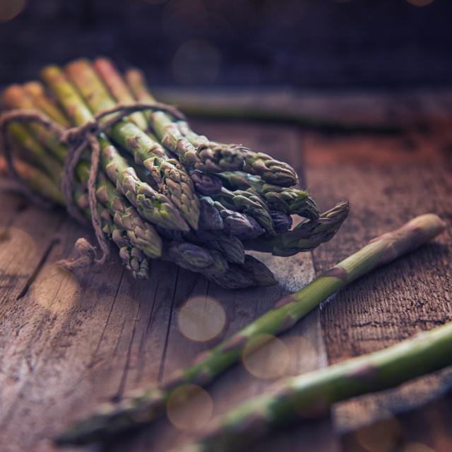 """""""Mazzetto di asparagi"""" stock image"""
