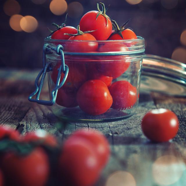 """""""Vasetto di pomodori"""" stock image"""