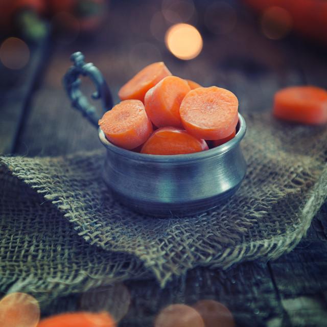 """Sliced carrots"" stock image"