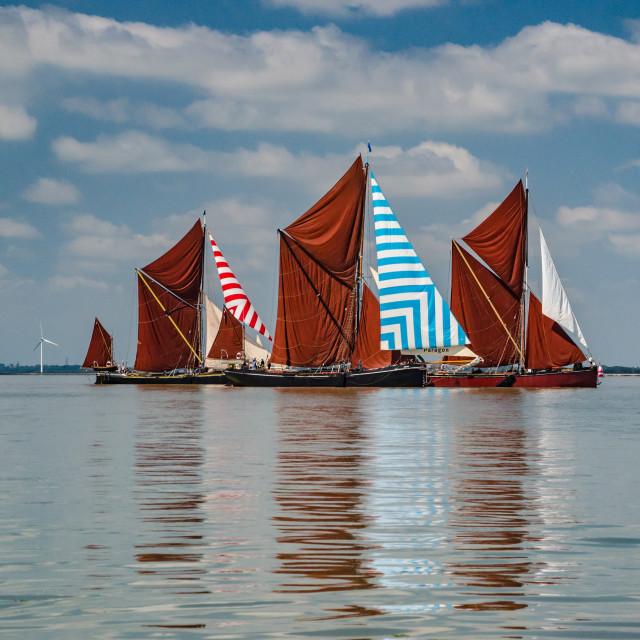 """Barge racing"" stock image"