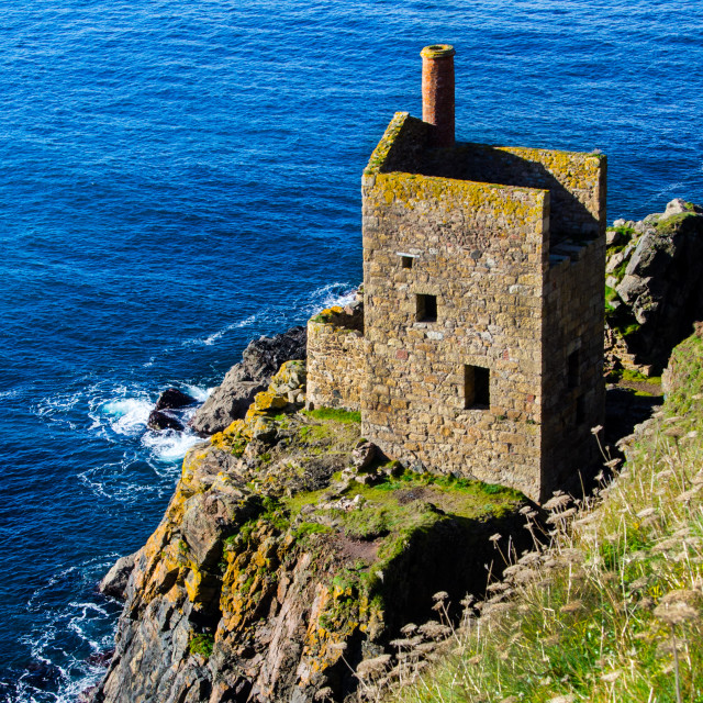 """Crown Mines at Botallack, Cornwall."" stock image"