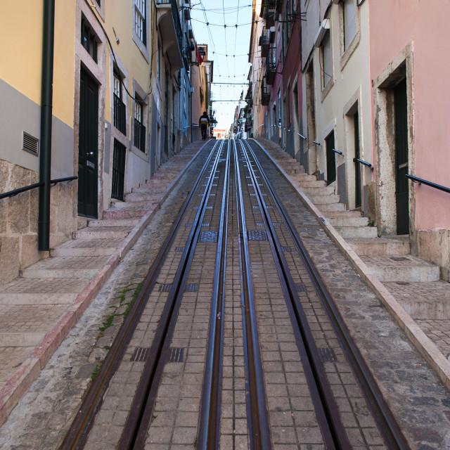 """Bica Funicular in Lisbon"" stock image"