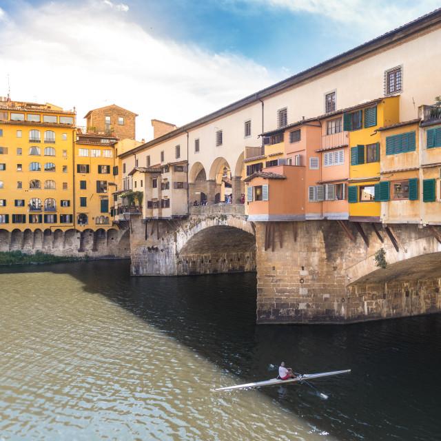 """Ponte Vecchio, Florence, Italy"" stock image"