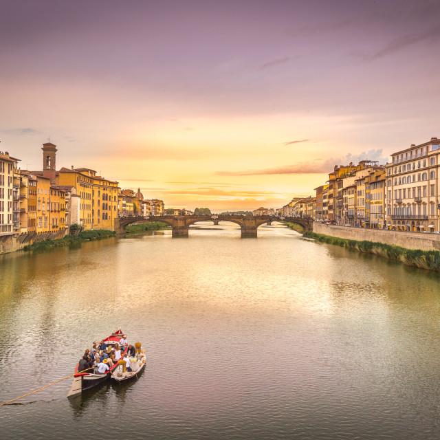 """""""Ponte Santa Trinita, Florence, Italy"""" stock image"""