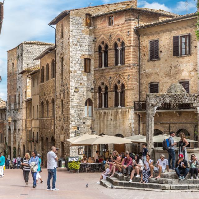 """Buildings in San Gimignano, Tuscany, Italy"" stock image"