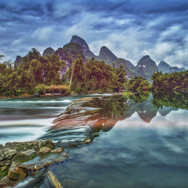 """""""The Li River in Guilin on a sunny day"""" stock image"""