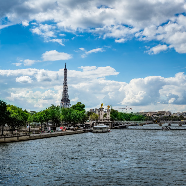 """View of the Eiffel Tower Paris France"" stock image"