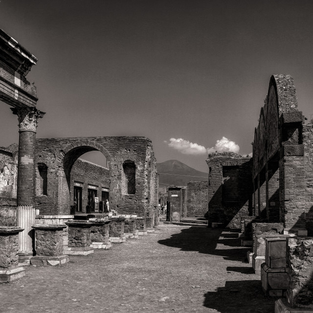 """Old Temple Pompeii Italy"" stock image"