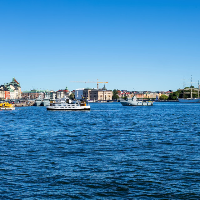 """Stockholm Waterfront Panorama"" stock image"