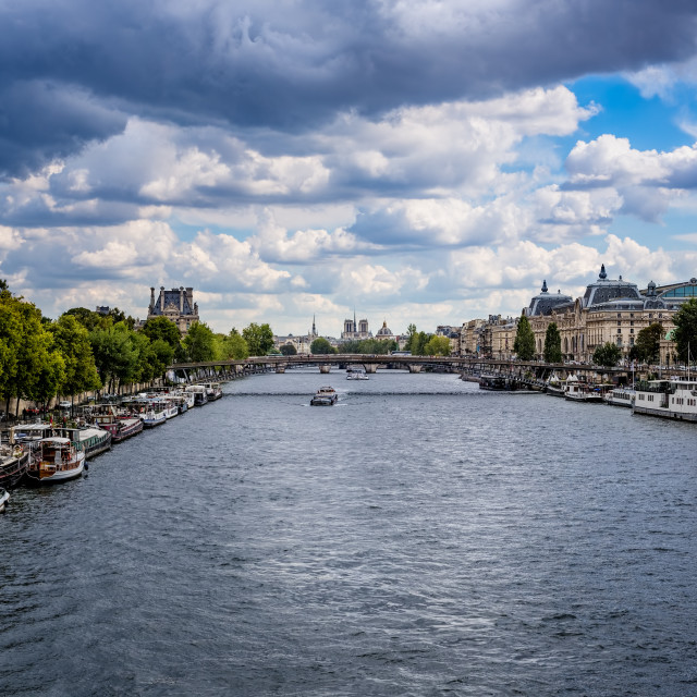 """The River Seine Paris France"" stock image"