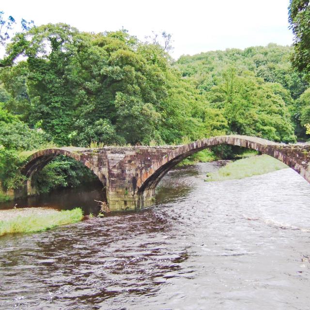 """Oliver Cromwells bridge"" stock image"