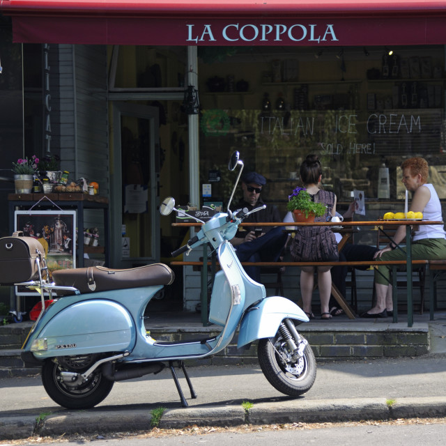 """Vespa Scooter"" stock image"