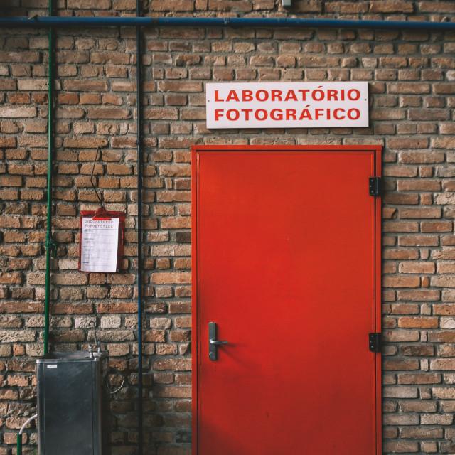 """The Laboratory"" stock image"