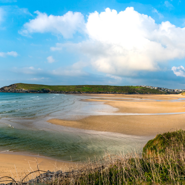 """Crantock Beach"" stock image"